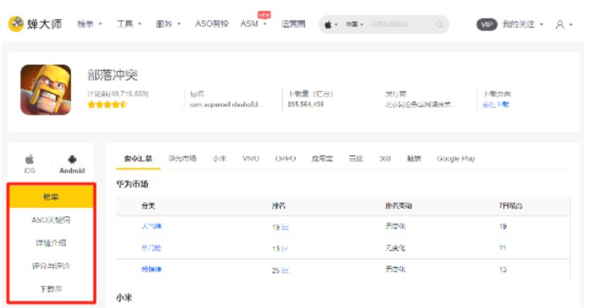 蝉大师APP关键词分析推广平台